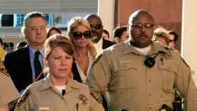 Paris Hilton en el juicio en el que se declaró culpable de posesión de cocaína.