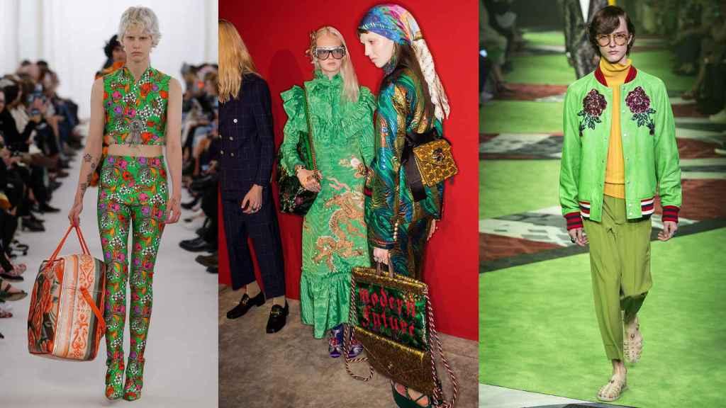 De izquierda a derecha: Balenciaga,  e imagen central y derecha,  Gucci.