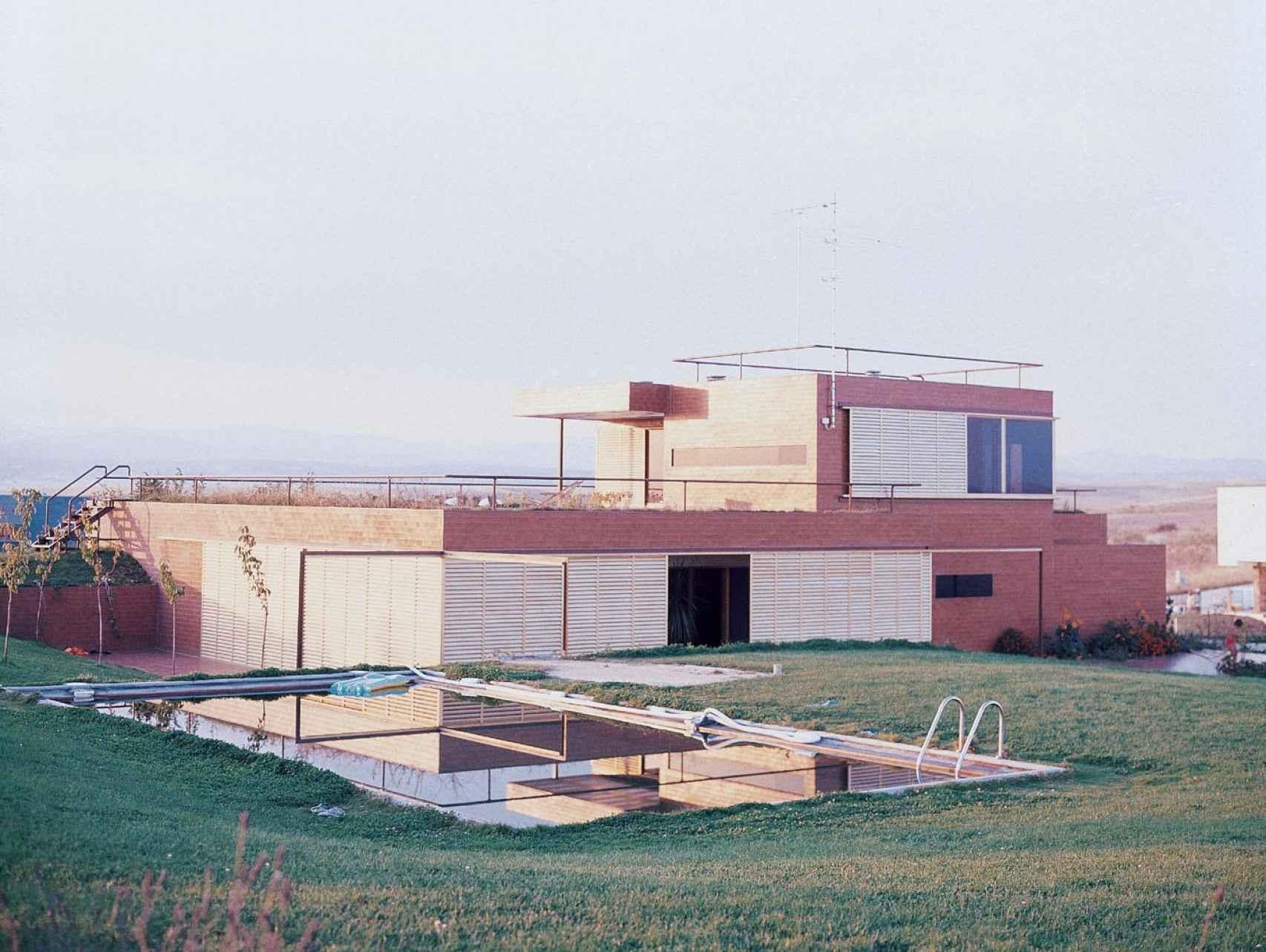 La casa Guzmán en una foto de 1972.