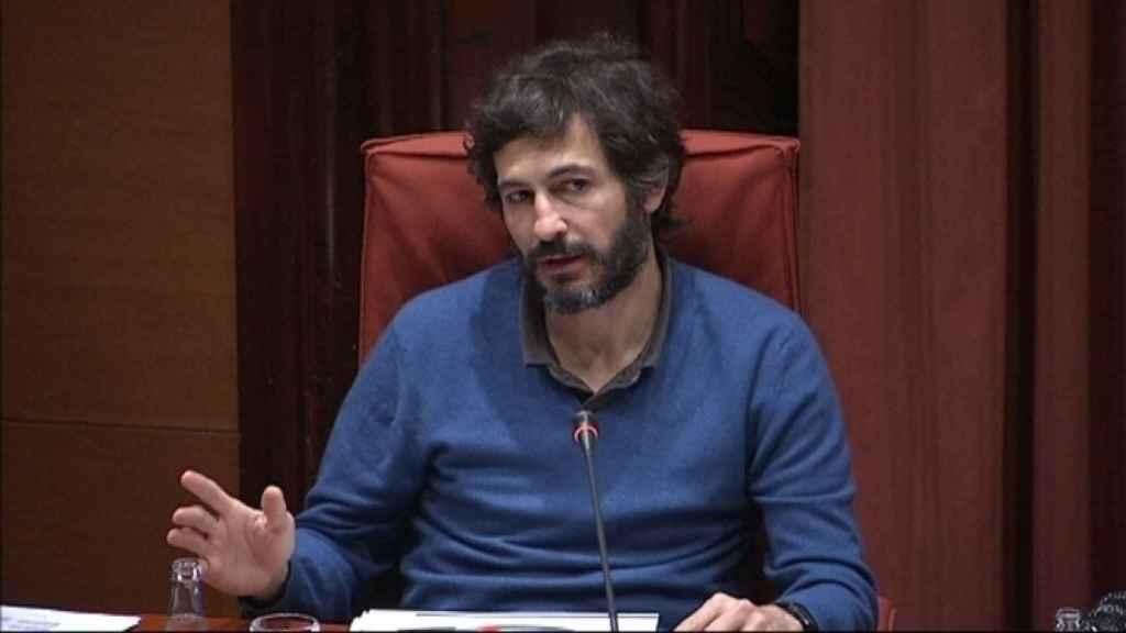 Oleguer Pujol Ferrusola, en el Parlament de Catalunya