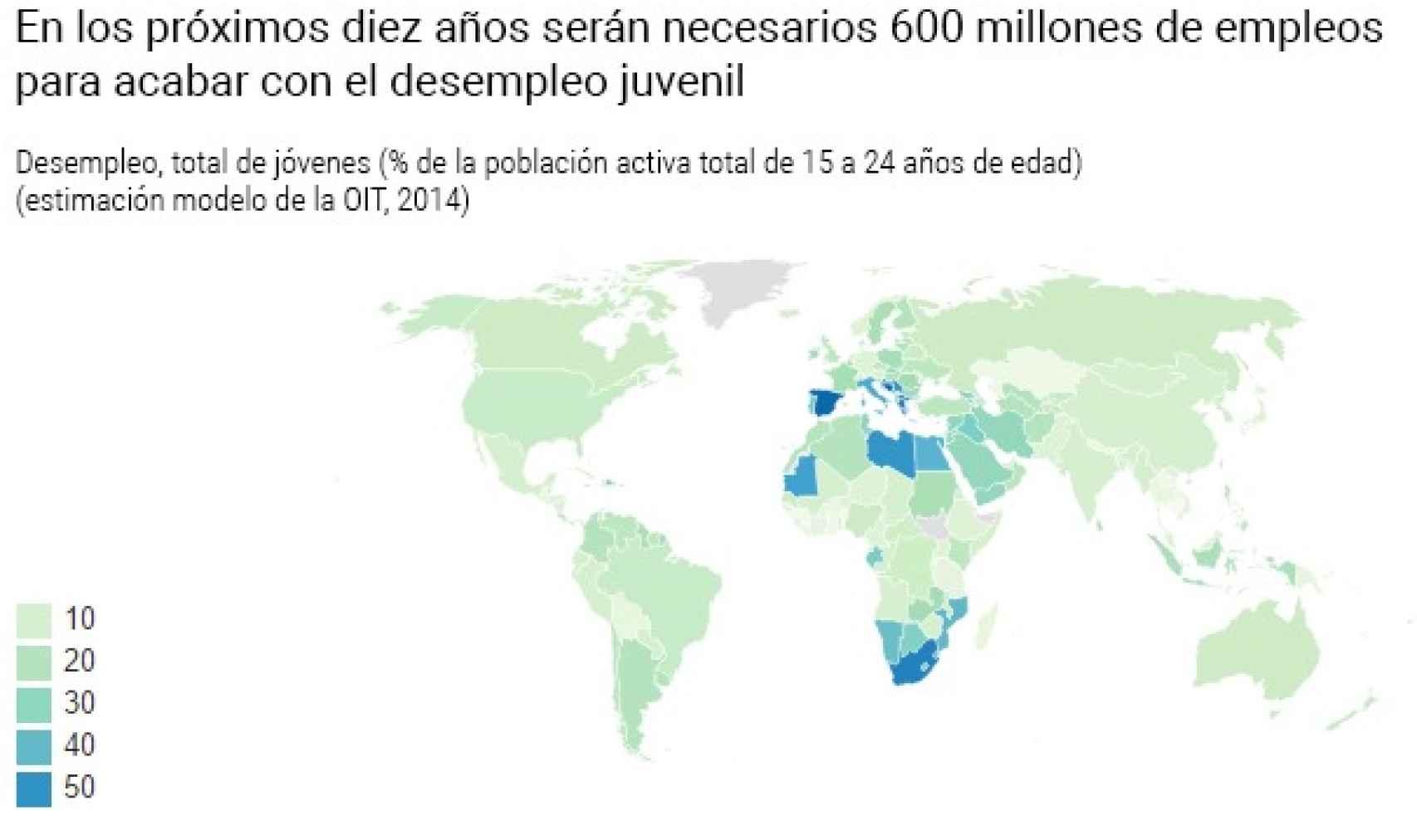 España destaca como uno de los países con más desempleo juvenil del mundo.