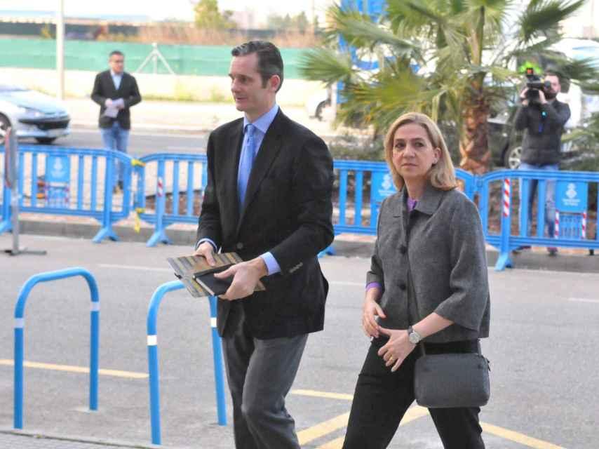 La infanta Cristina de Borbón e Iñaki Urdangarin durante el juicio del Caso Noos en Palma de Mallorca.