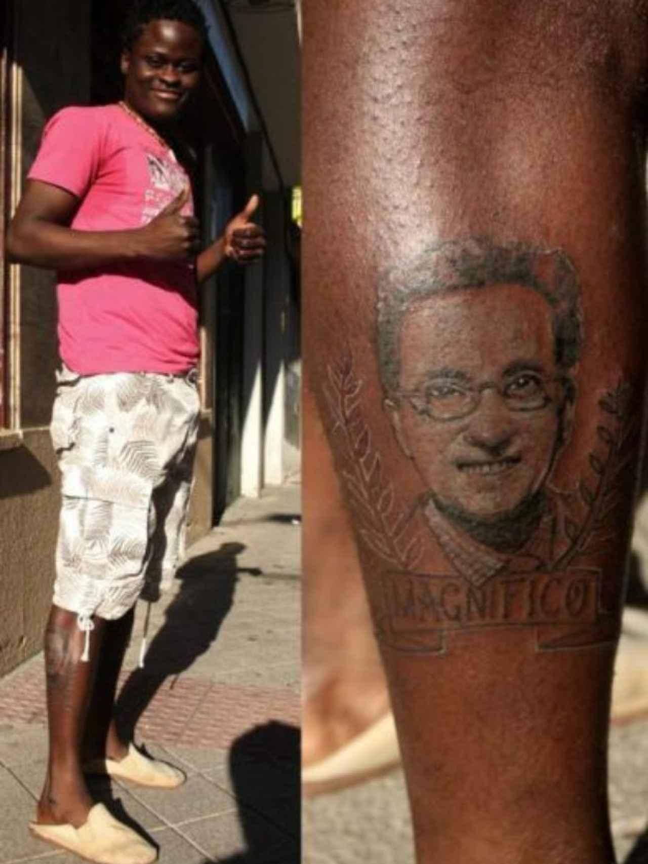 Hace unos años, un hombre se tatuó la cara de Jordi Hurtado en la pierna.