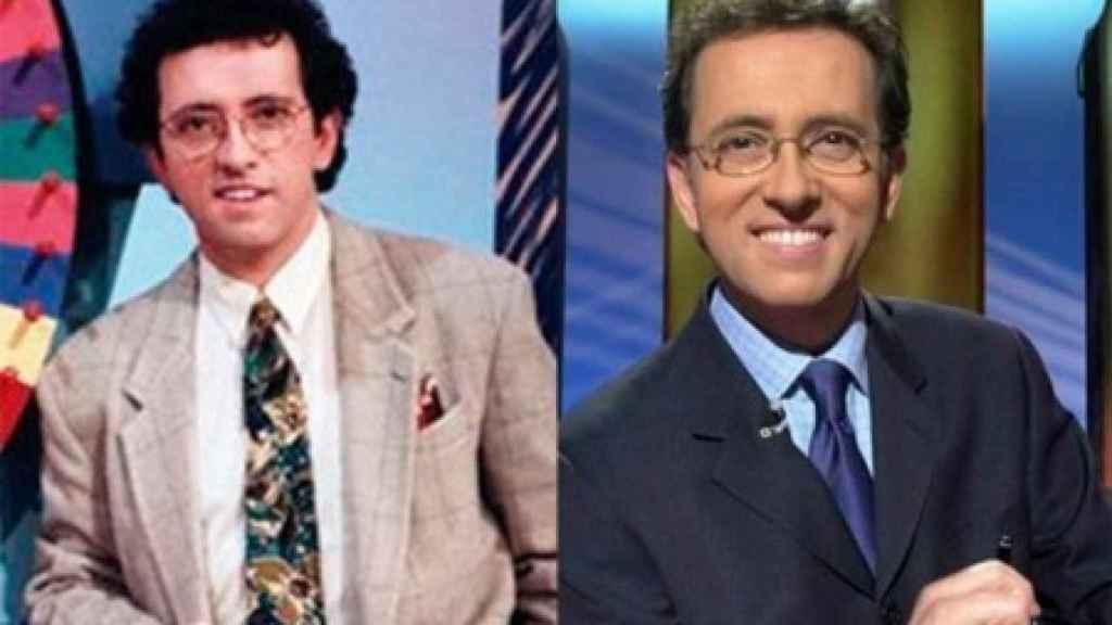 Jordi Hurtado en sus inicios como presentador y Jordi Hurtado en la actualidad.