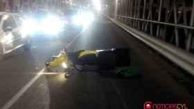 zamora accidente moto puente hierro 1