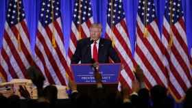 Donald Trump, durante su primera rueda de prensa.