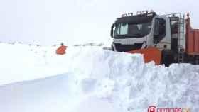 Camiones quitanieve en Segovia