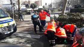 Valladolid-accidentes-heridos-ambulancia-paseo-zorrilla