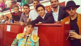 Marcos Alonso, a la izquierda. Froilán, en el centro.