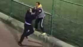 Captura de pantalla de la pelea entre padres.