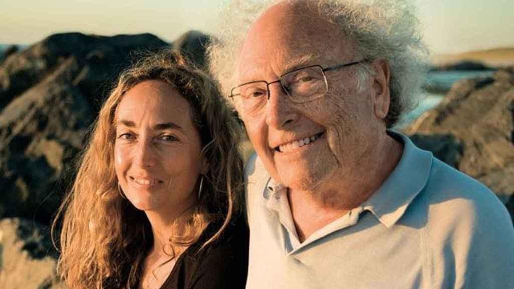 Carolina Punset, con su padre, el escritor y político Eduard Punset