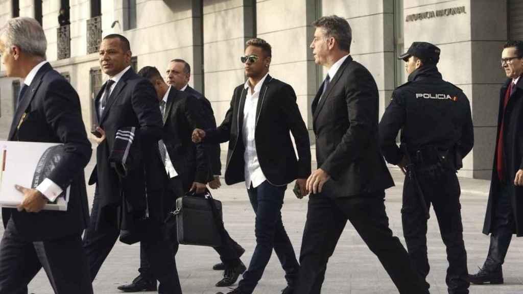 Neymar en la Audiencia Nacional.
