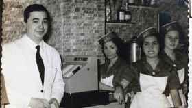Inauguración de la cafetería Nebraska de Alcalá en 1963.