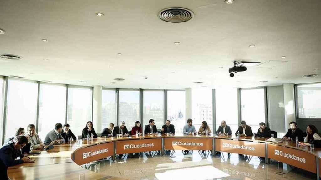 Reunión de de la Ejecutiva de Ciudadanos en su sede de Madrid.