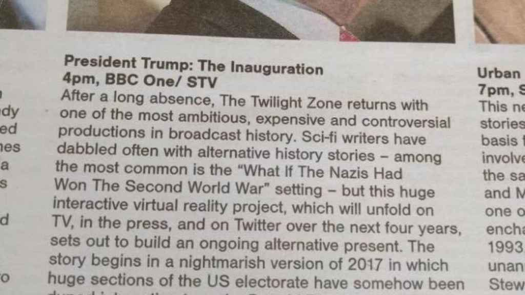 La reseña televisiva del 'Sunday Herald' escocés sobre Trump.