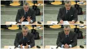 Luis Bárcenas durante su declaración en la Audiencia Nacional.