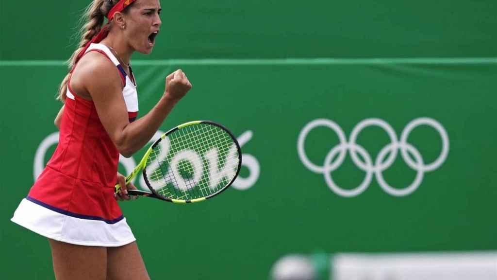 Mónica Puig, durante la final olípica de Río de Janeiro.