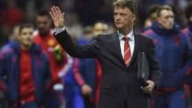 Louis va Gaal en su última etapa en el Manchester United.