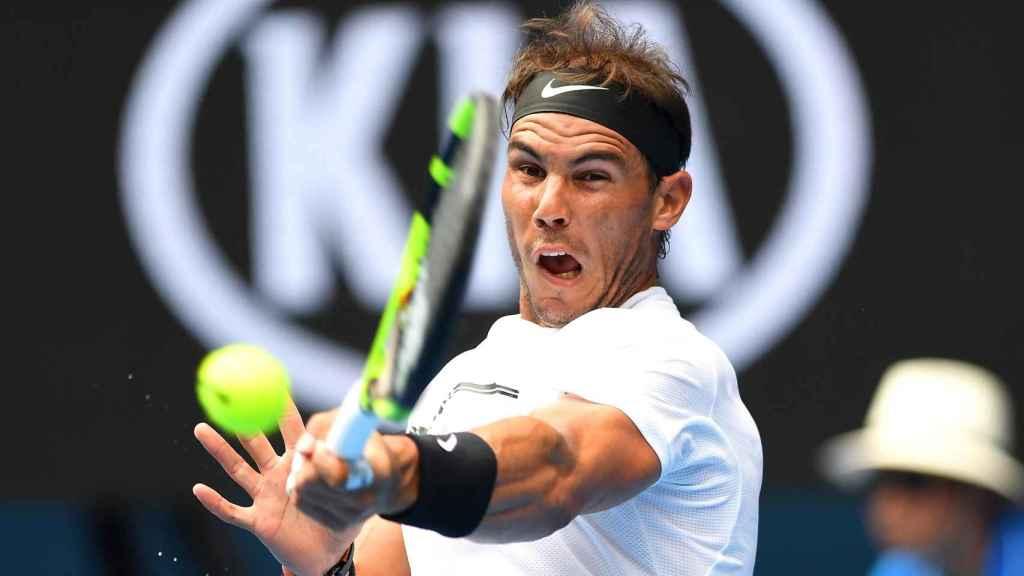 Rafael Nadal, en su partido inaugural del Open de Australia.