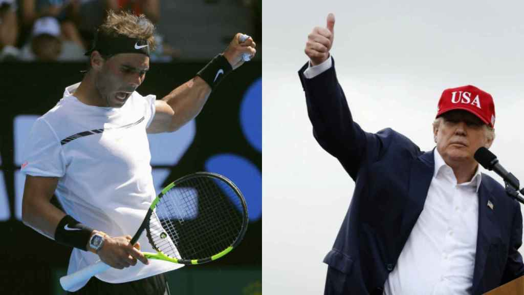 Rafa Nadal y Donald Trump.