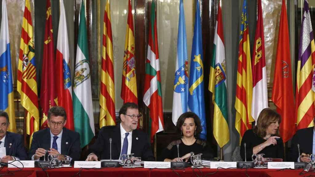 Mariano Rajoy preside la reunión de la VI Conferencia de Presidentes