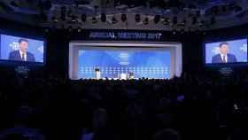 Xi Jinping durante su intervención en el Foro de Davos.