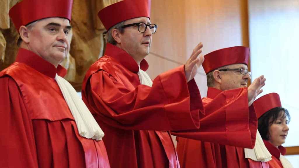 Algunos jueces del Tribunal Constitucional Alemán.