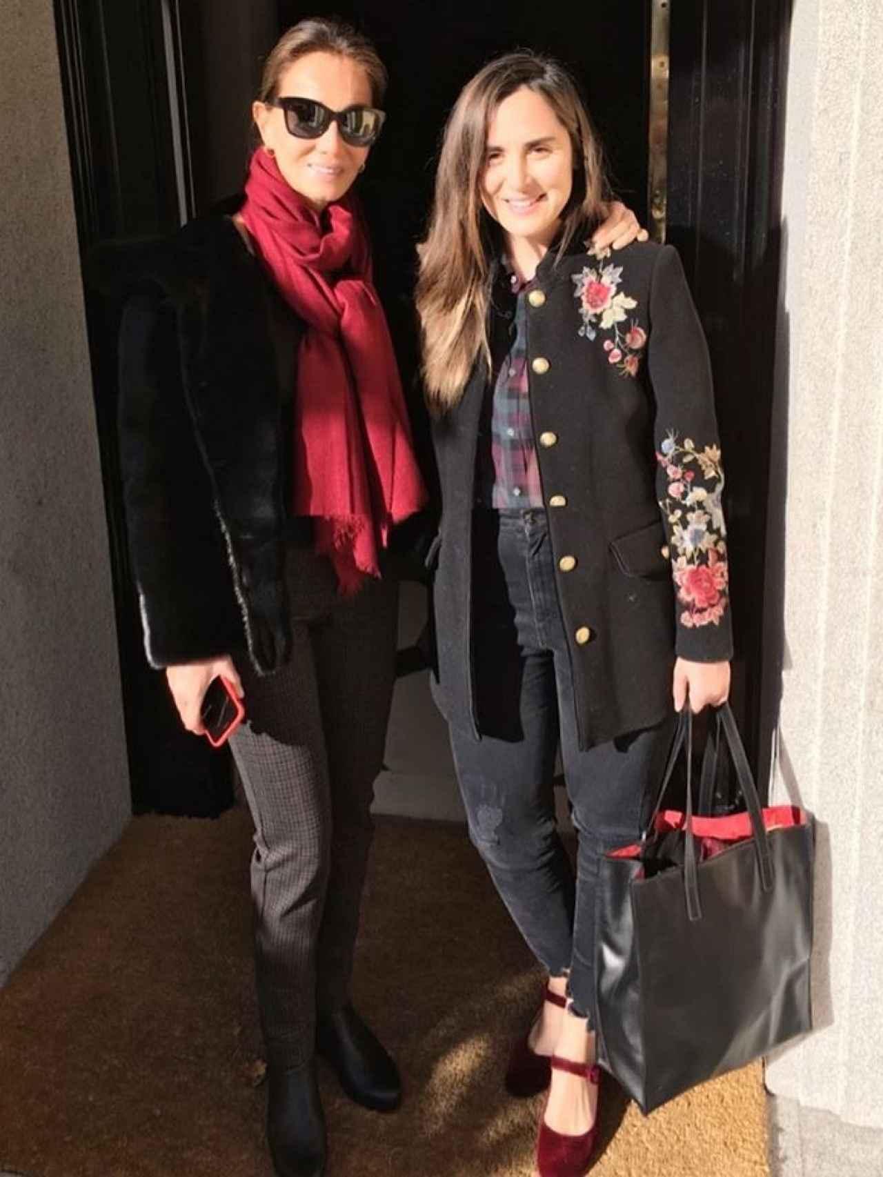 Isabel Preysler con su hija Tamara.