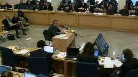 El extesorero del PP Luis Bárcenas durante su declaración