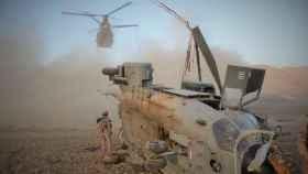 Helicópter Super Puma español accidentado en Afganistán.