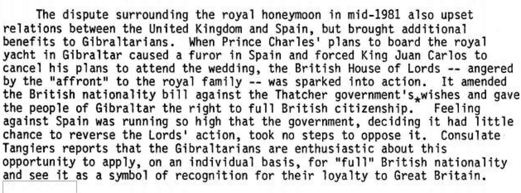 El informe de Gibraltar.