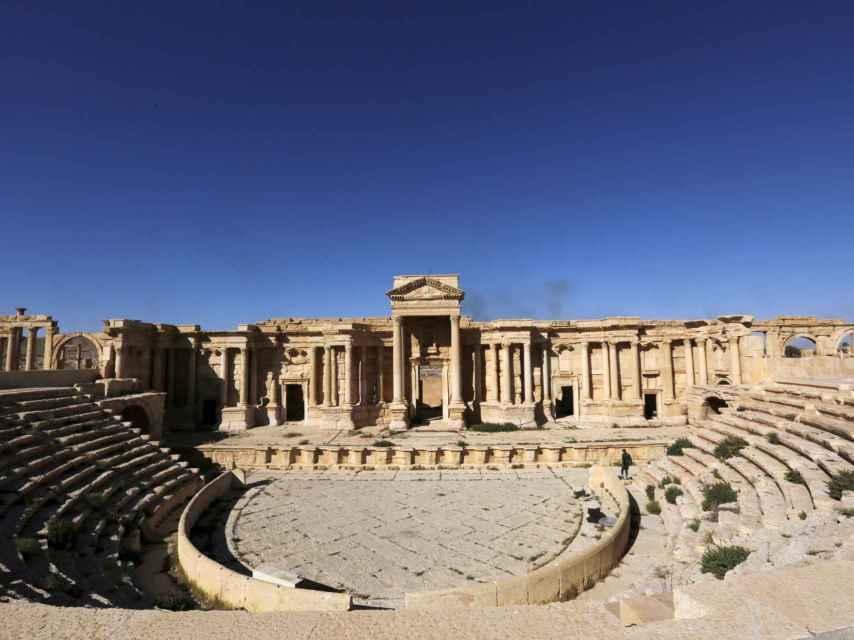 El teatro romano y el Teatrápilo de Palmira han sido destruidos por el Estado Islámico.