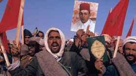Más de 300.000 civiles participaron en la Marcha Verde, coordinada por Hassan II.