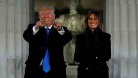Donald y Melania Trump, en la víspera de la investidura.