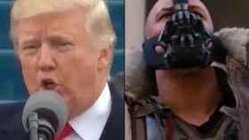 Donald Trump y Bane, el villano de 'El Caballero Oscuro: La Leyenda Renace'.