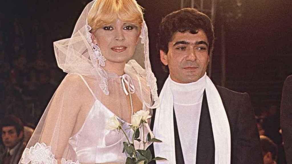 Imagen de la boda entre Bárbara Rey y Ángel Cristo.