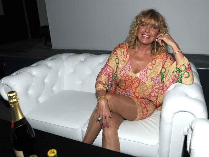 La actriz y vedete María Margarita García García, más conocida como Bárbara Rey.