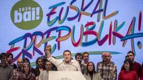 Arnaldo Otegi, durante el congreso de Sortu celebrado este sábado.