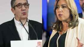 Patxi López y Susana Díaz aspiran a suceder a Sánchez al frente del PSOE.