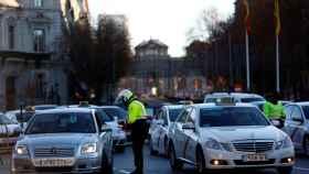 Un control de tráfico de la Policía local de Madrid.