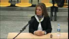 La mujer de Luis Bárcenas, Rosalía Iglesias, en su declaración como acusada en la Audiencia Nacional.