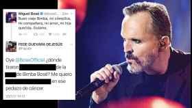 Miguel Bosé recibió en su cuenta mensajes vejatorios y homófobos contra él y contra su familia.