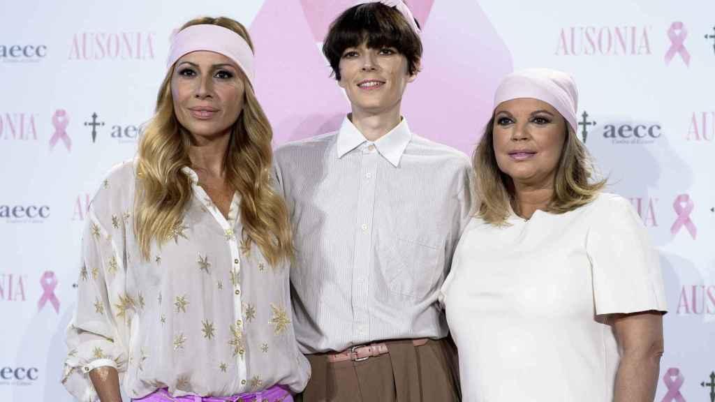 Bimba, junto con Terelu y Marta Sánchez en la última aparición pública de la modelo