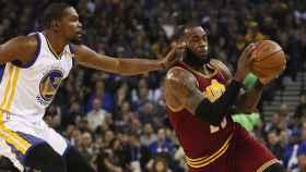 Lebron James, durante las últimas finales de la NBA.