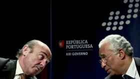 Luis de Guindos y el ministro portugués de Finanzas
