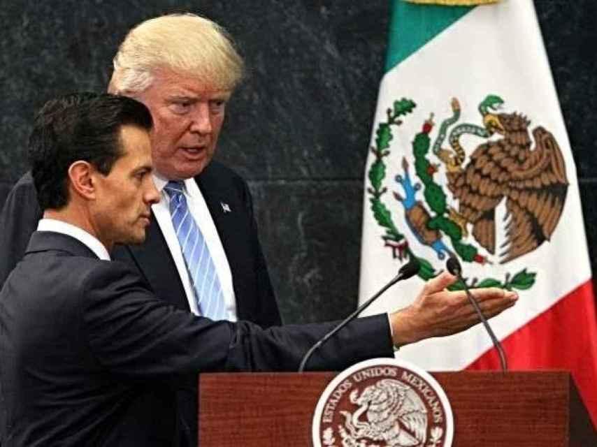 Donald Trump y Enrique Peña Nieto, presidentes de Estados Unidos y México