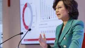 Ana Botín, presidenta del Banco Santander, presenta los resultados de 2016