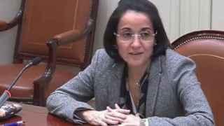 María Ángeles Parra, durante su entrevista en el Consejo del Poder Judicial.