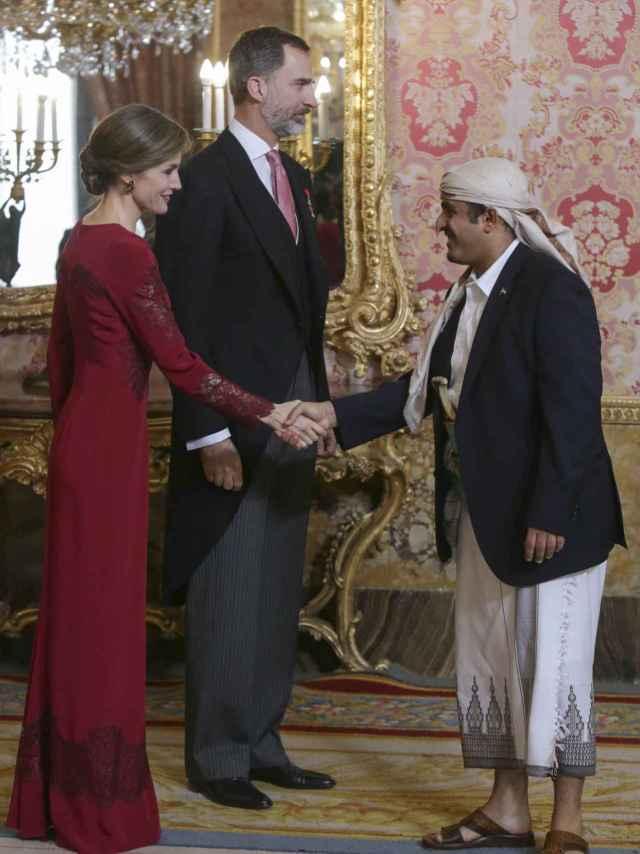 Un momento de la recepción en el Palacio Real.