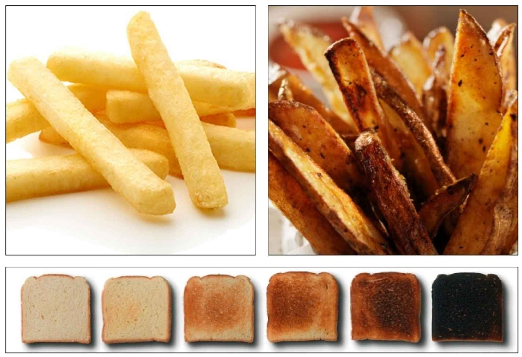 Al freír o tostar a altas temperaturas aparece la acrilamida.